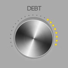 Debt controller knob