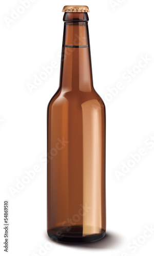 Beer bottle isolated. Vector illustration