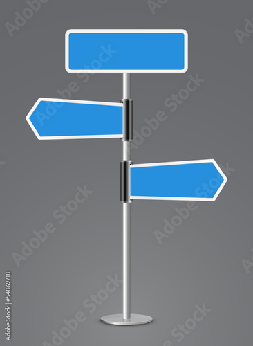 road sign direction 3d icon
