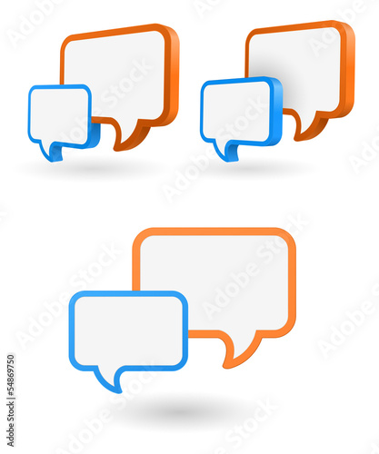 speech bubble 3d icon
