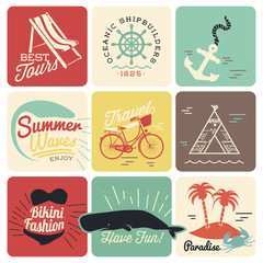 9 Retro background for Summer designs