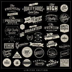 Big set of premium quality typography elements