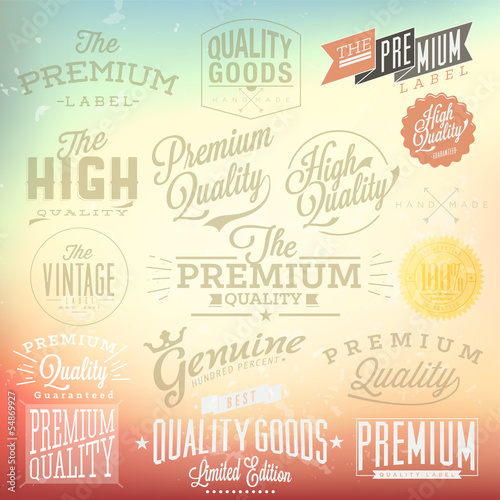 Premium Quality and Satisfaction Guarantee Label collection