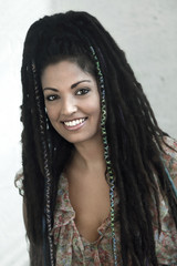 Smiling Rasta Woman