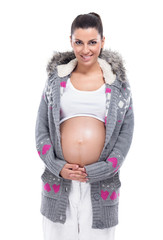 Young pregnant lady in sweater