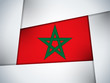 Morocco Country Flag Geometric Background