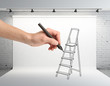 hand drawing ladder