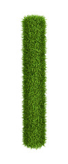 Natural grass letter l lowercase