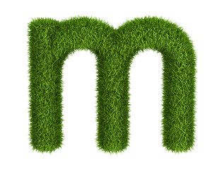 Natural grass letter m lowercase