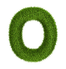 Natural grass letter o lowercase