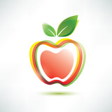 Fototapety red apple symbol, vector icon