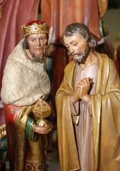 Antique Figurines of Joseph and a King
