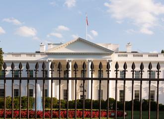White House Washington DC behind bars