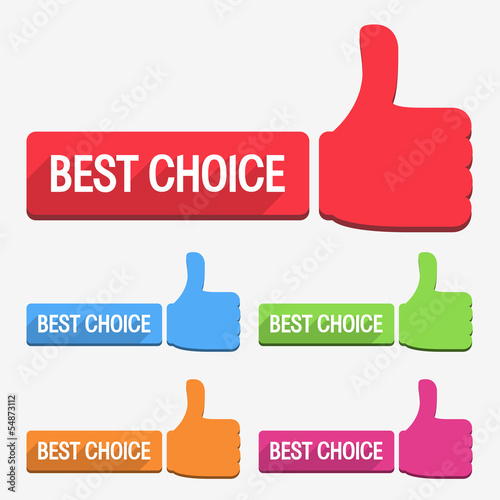 Best Choice Label, Flat Design