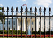 White House Washington DC behind bars