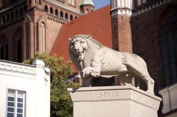 Löwe Wahrzeichen Schwerin