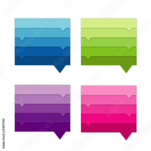 Collection of website element. Colorful speech bubbles.