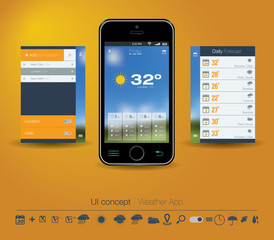 UI concept for Weather App