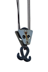 Isolated Vintage Harbour Crane Hook