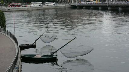 Fischerei in der Stadt