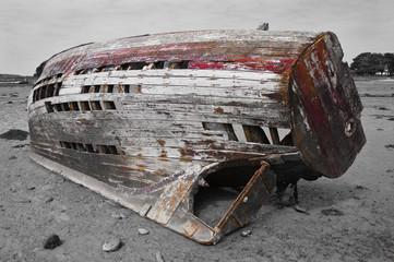 Vielle épave de bateau