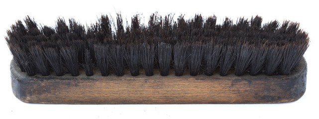 Isolated Used Shoe Brush