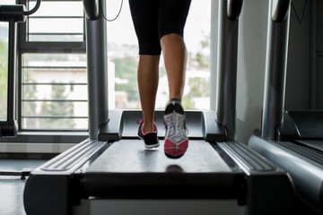 People running on treadmills