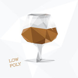 low poly cognac