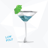low poly martini