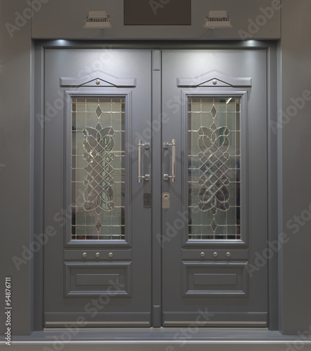 Massive Aluminum Door