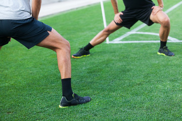leg extension on grass