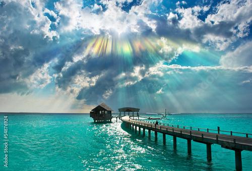 Fototapeten,meer,himmel,strand,blau