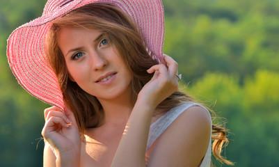 Portrait of pretty cheerful girl