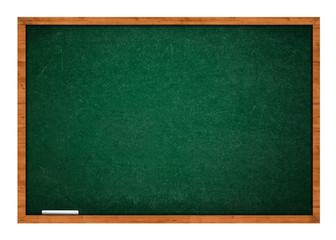 Green chalkboard with chalk