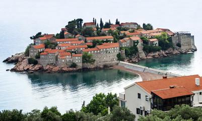 Island of Saint Stephen, Montenegro, Adriatic sea.
