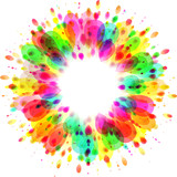 colorful paint splash, celebration background