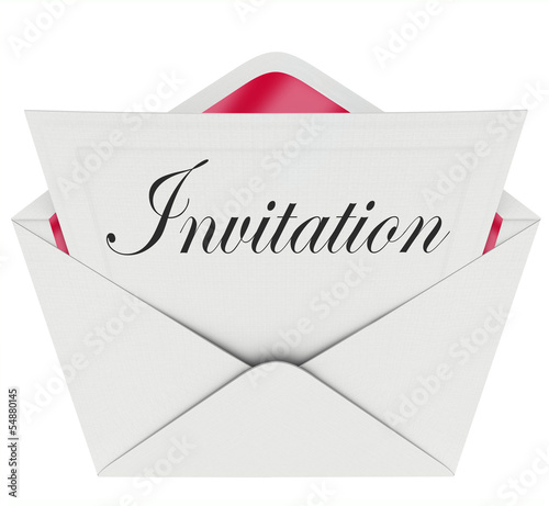 Invitation Word Card Envelope Invited to Party Event