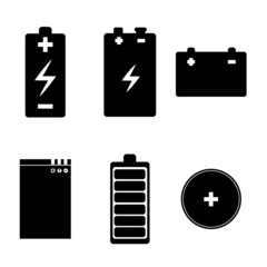 batteries icons