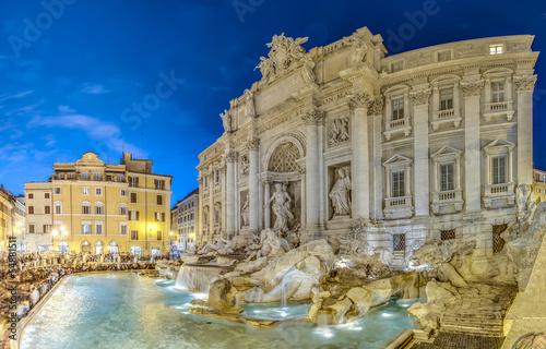 Leinwanddruck Bild Trevi Fountain, the Baroque fountain in Rome, Italy.
