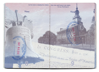USA Passport Stamped Page