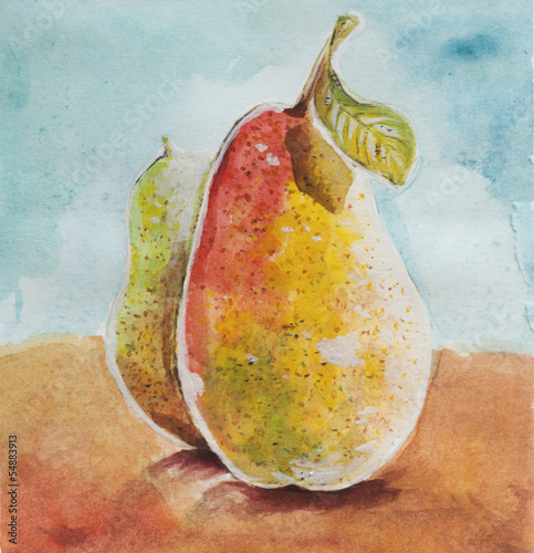 pears watercolor © jekyma