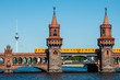 canvas print picture - Oberbaum bridge