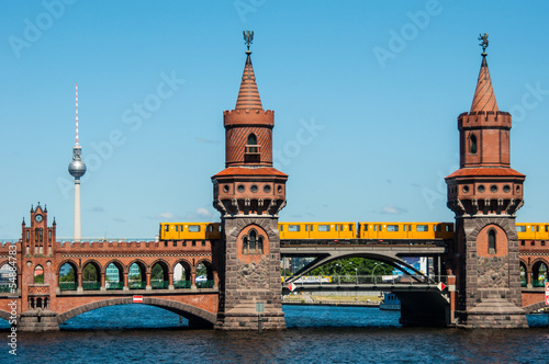 canvas print picture Oberbaum bridge