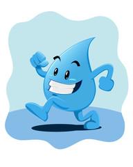 Water Drop Mascot