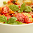fresh salad with tomatoes