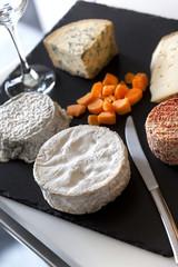 Plateau, fromages, verre, brunch, bistrot, repas, manger