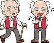 活動的な高齢男性