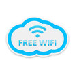 Light Blue Free Wifi Cloud