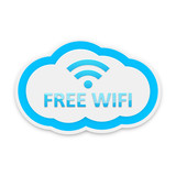 Light Blue Free Wifi Cloud