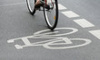 canvas print picture - fahrradweg